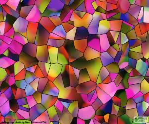 Polygons of colors puzzle