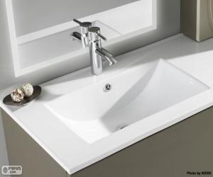 Porcelain sink puzzle