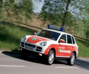 Porsche Cayenne Ambulance puzzle