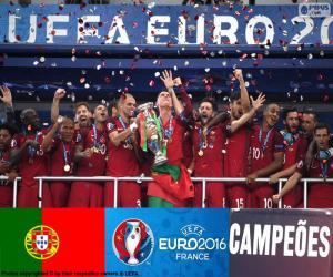 Portugal, Euro 2016 champion puzzle