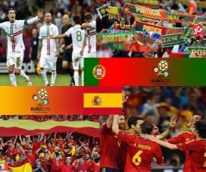 Portugal - Spain, semi-finals Euro 2012 puzzle