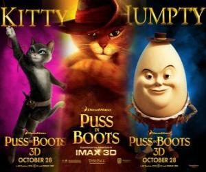 Poster of the film Puss in Boots puzzle
