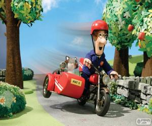 Postman Pat with his motorcycle puzzle