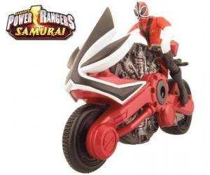 Power Ranger Samurai Red Cycle puzzle