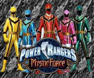 Power Rangers Mystic Force puzzle