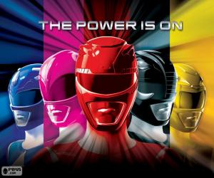 Power Rangers, The Power is on puzzle