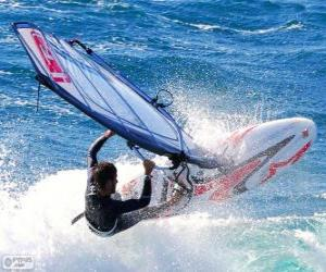 Practicing windsurfing puzzle