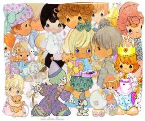 Precious Moments characters puzzle