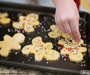 Preparation Christmas biscuits puzzle