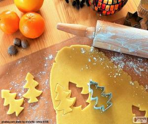 Prepare cookie Christmas puzzle