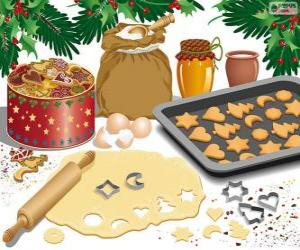 Preparing Christmas biscuits puzzle