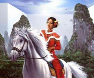 Princess riding a beautiful horse puzzle