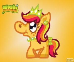 Priscilla. Moshi Monsters. The Princess Pony puzzle
