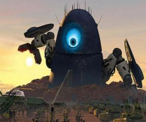 Probe robot, the robot alien puzzle
