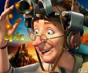 Professor Bomba, an eccentric scientist puzzle