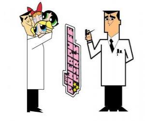 Professor Utonium is the creator of The Powerpuff Girls puzzle