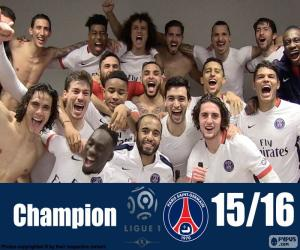 PSG champion 2015-2016 puzzle