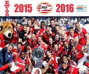 PSV Eindhoven, champion 2015-2016 puzzle
