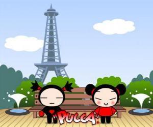 Pucca and Garu in Paris puzzle