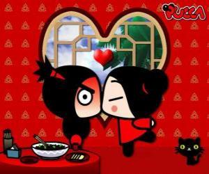 Pucca kisses Garu puzzle