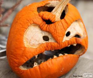 Pumpkin Halloween puzzle