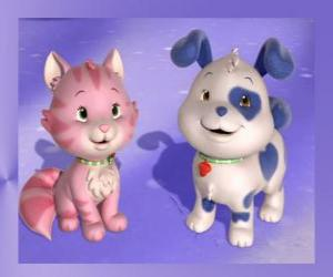 Pupcake is the puppy of Strawberry Shortcake with Custard is the kitten of Strawberry Shortcake puzzle