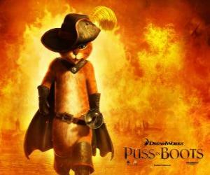 Puss in Boots, the protagonist of the new DreamWorks movie puzzle