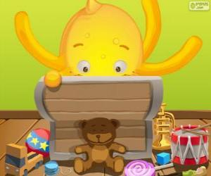 Pypus and its toys box puzzle