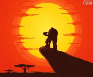 Pypus at the rock of the king as Simba, the Lion King puzzle
