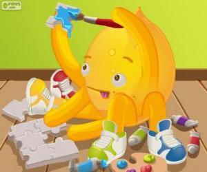 Pypus painting a puzzle puzzle