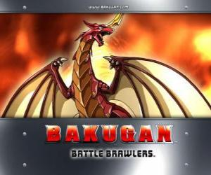 Pyrus Drago is the Bakugan  guardian of Dan puzzle