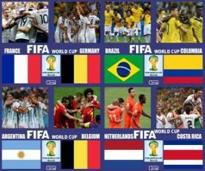 Quarter-finals, Brazil 2014 puzzle