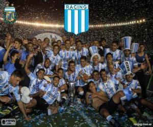 Racing Club de Avellaneda, champion of the Torneo de Transición 2014 in Argentina puzzle