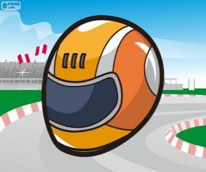 Racing helmet puzzle
