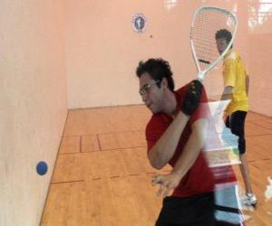 Racquetball match puzzle