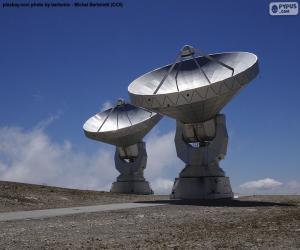 Radio telescopes puzzle