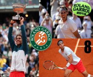 Rafael Nadal champion Roland Garros 2013 puzzle