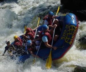 Rafting or white water rafting puzzle
