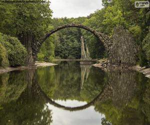 Rakotzbrucke Devil's Bridge, Germany puzzle