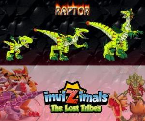 Raptor, latest evolution. Invizimals The Lost Tribes. Dangerous hunter that is fast, smart, aggressive puzzle
