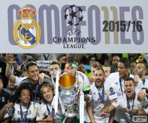 Real Madrid, 2015-2016 Champions puzzle