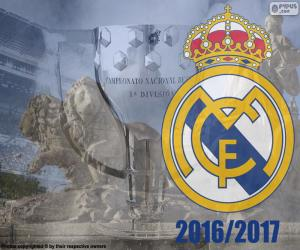 Real Madrid, champion 2016-2017 puzzle