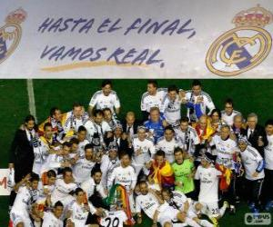 Real Madrid champion Copa del Rey 2013-2014 puzzle