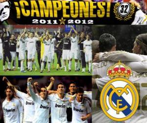 Real Madrid, champion of the spanish football league 2011-2012 puzzle