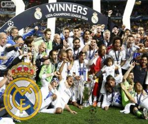 Real Madrid, champion of the UEFA Champions League 2013-2014 puzzle