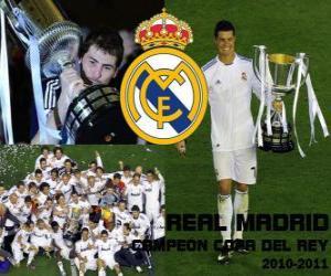 Real Madrid Copa del Rey 2010-2011 champion puzzle