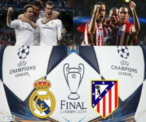 Real Madrid vs Atletico. Final UEFA Champions League 2013-2014. Estadio da Luz, Lisbon, Portugal puzzle