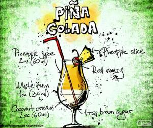 Recipe for Piña Colada puzzle