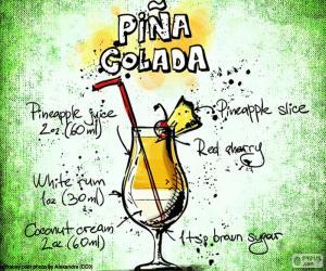 Recipe for Piña Colada puzzle