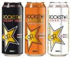 Three cans of drink like beer or soft drink with gas